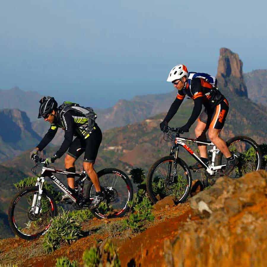 Cycling Gran Canaria with a mountain bike