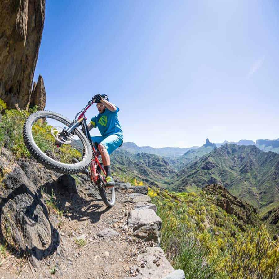 Cycling Gran Canaria with a mountain bike - Tejeda