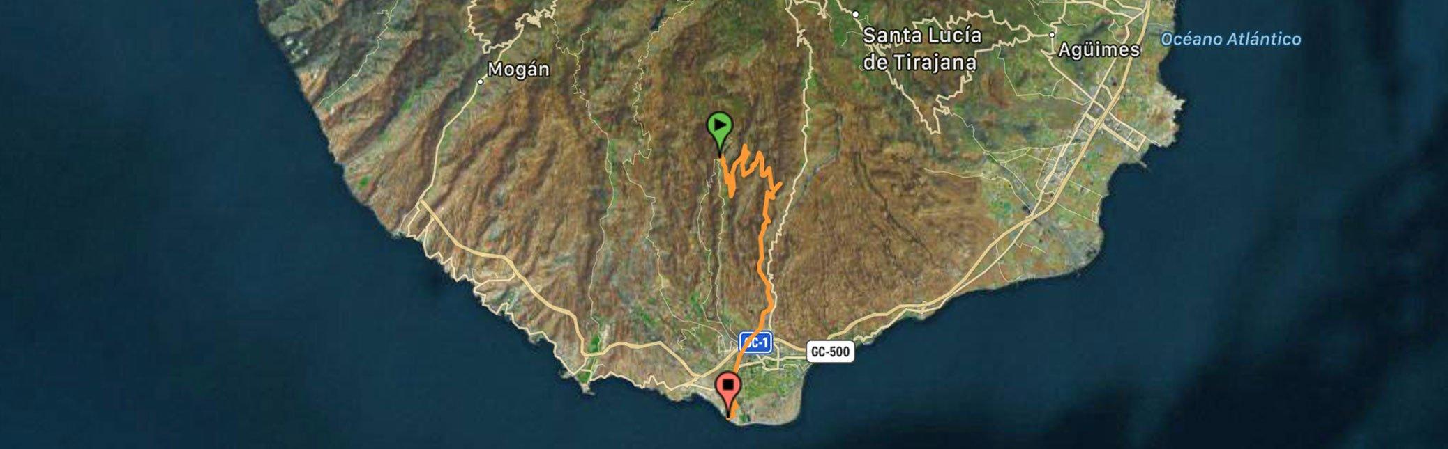 Grand Canyon - Gran Canaria-mountain Bike Tour - track