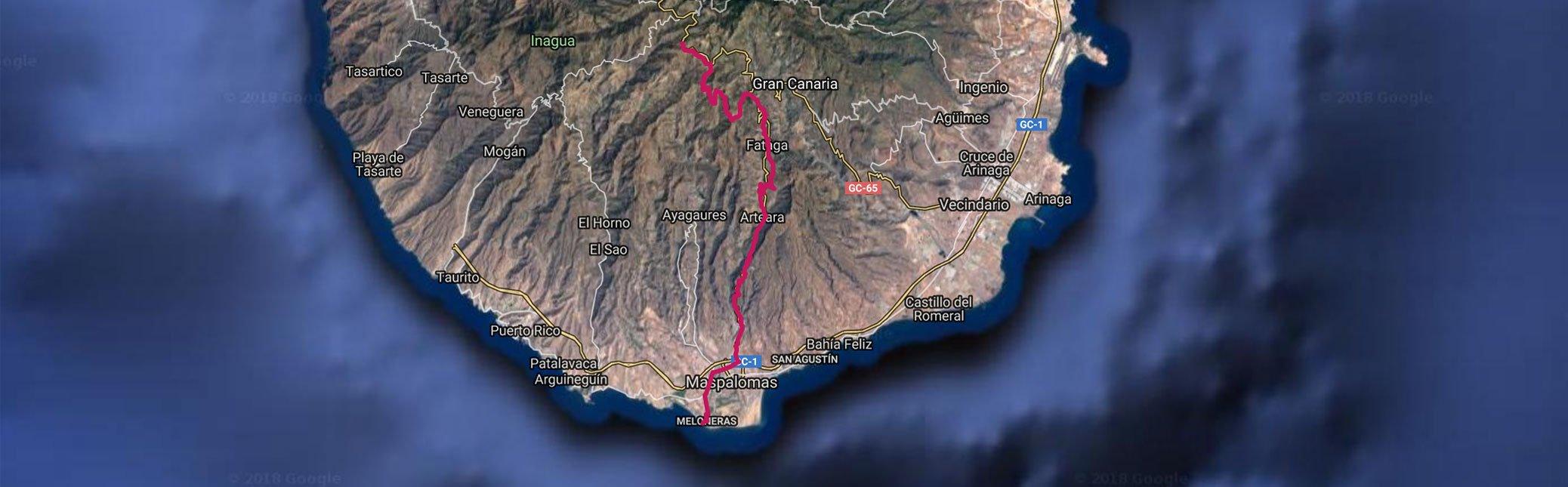 Fataga SuperMountain - Gran Canaria-mountain Bike Tour - track