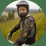 Mikko mountain biking