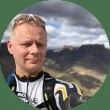 Seppo mountain biking